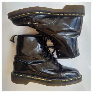 Dr. Marten's Patent Leather Original Combat Boots